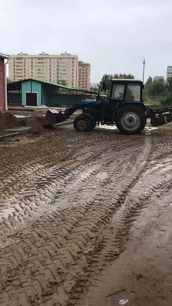 Озеленение детского сада Волжск (Марий Эл)