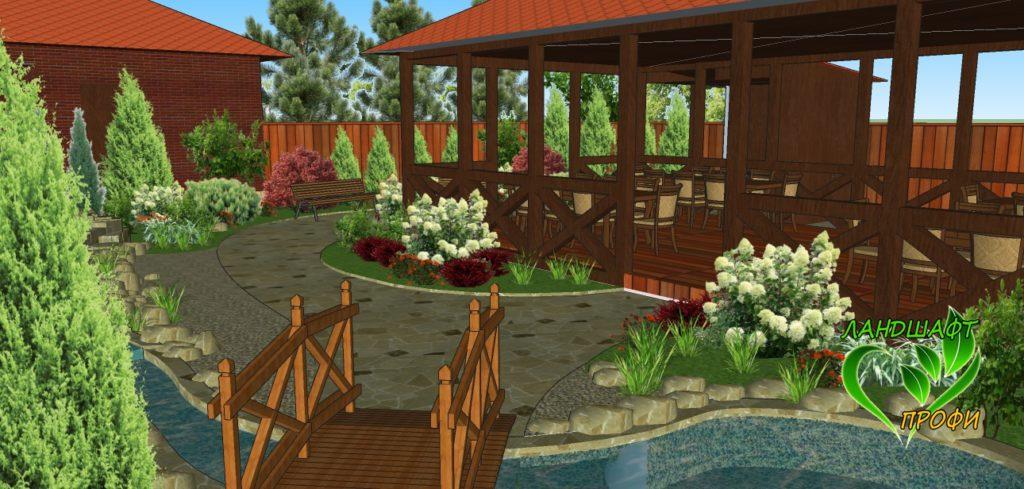 3D-визуализация двора